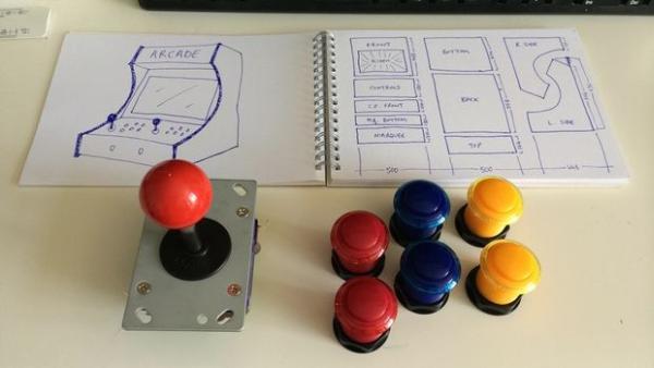 2-Player Bartop Arcade Machine