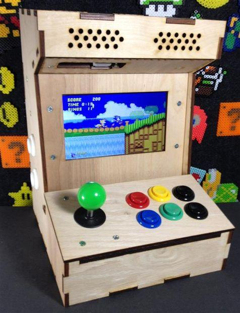 build your own mini arcade cabinet with raspberry pi. Black Bedroom Furniture Sets. Home Design Ideas