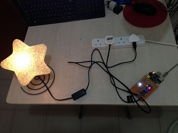 IPhone remote controlled lamp