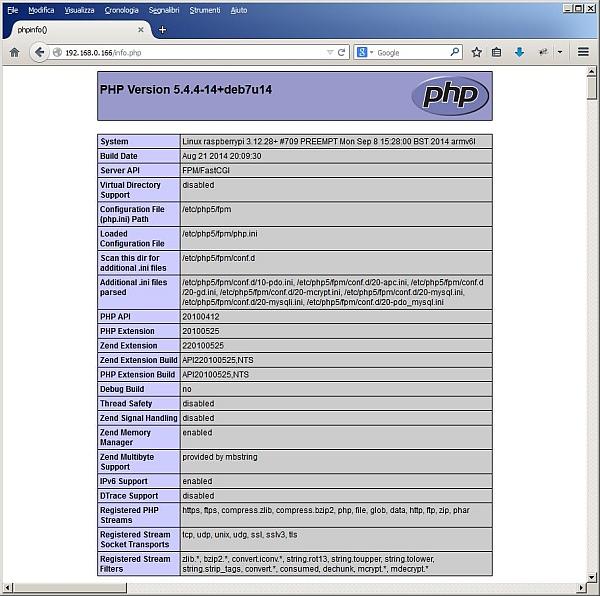 Raspberry Pi Web Server Php