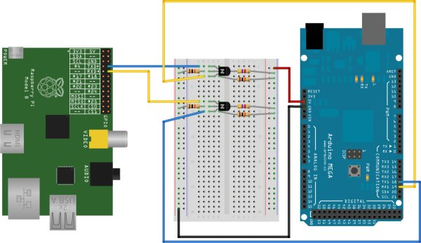 Connecting an Arduino and Raspberry Pi circuit