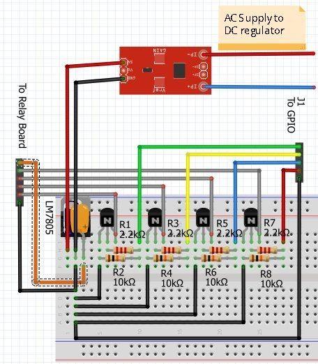 Power to your Living room via Raspberry Pi Schemetic