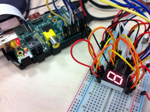 7 Segment Display with 74HC595 Shift Register and Raspberry Pi