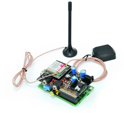 A GSM GPRS & GPS Expansion Shield for Raspberry Pi