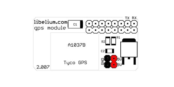 GPS Module for Raspberry Pi Tutorial Schematic