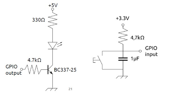 Hardware button and LED to control association in wireless networks schematic