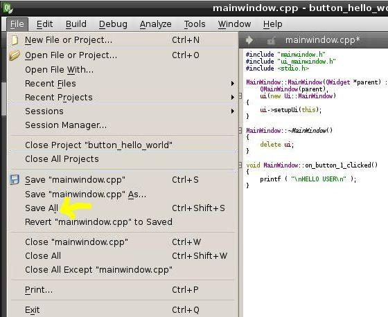 How to Create Buttons in Qt Code