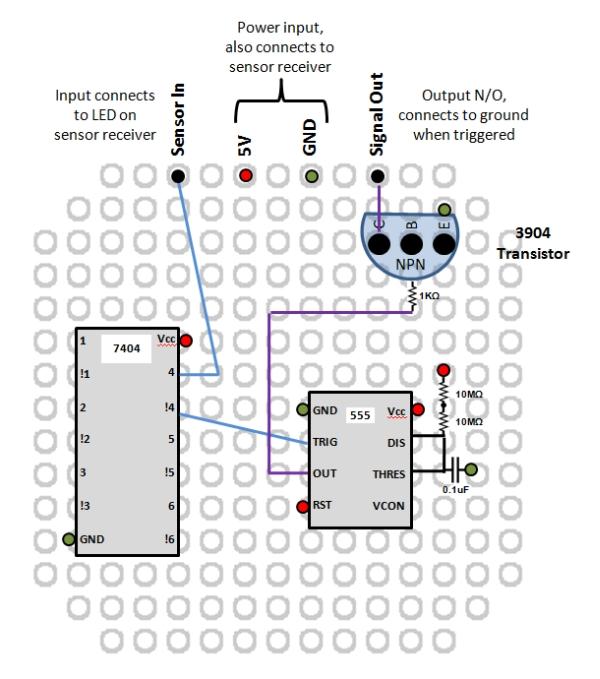 Interface to Wireless Driveway Sensor Schematic