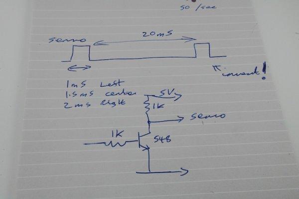 Raspberry Pi GPIO driving Servo Schematic
