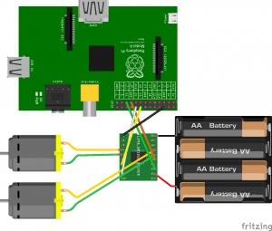 Raspberry Pi Robot – Connecting the H-Bridge & Motors Diagram