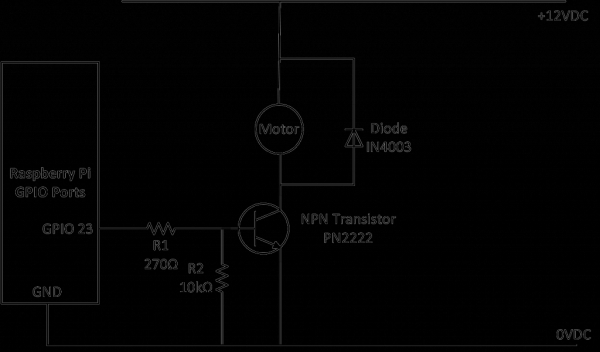 Simple way to control 12V DC Motor using Raspberry Pi's GPIO port and NPN transistor.jpg