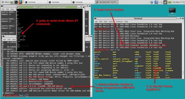 USB Dial Up Modem for Raspberry Pi Codes