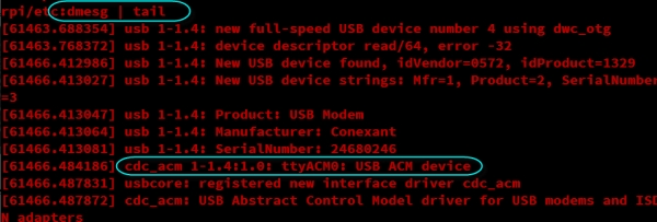 USB Dial Up Modem for Raspberry Pi Codes