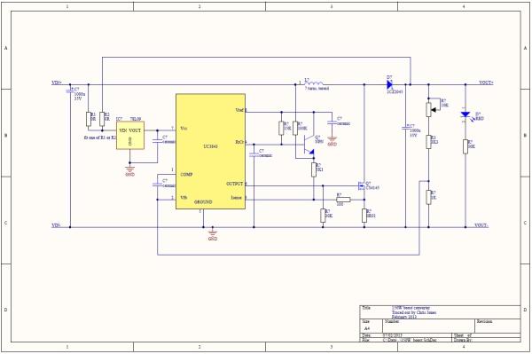 150W Boost Converter Schematic