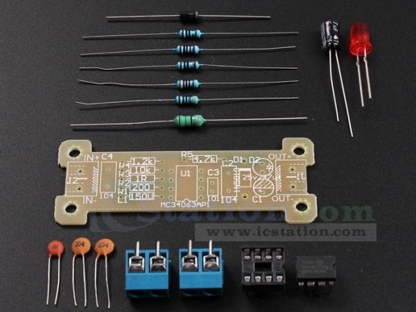 ICStation DIY Kit 5V to 12V Step-up Power Converter Module DIY K