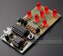 ICStation Electronic Dice DIY Kit 7pcs 5mm Red LEDs