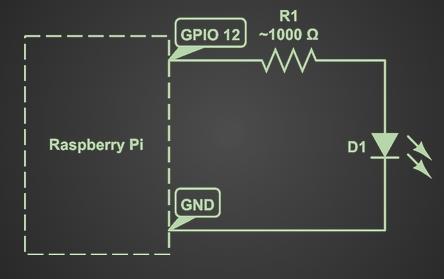 Raspberry Pi Sensor and Actuator Control Schematic