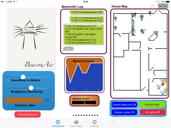 BeaconAir On Raspberry Pi iBeacons Schematic