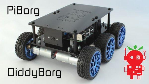 DiddyBorg The Mini 6 wheeled Raspberry Pi Robot!