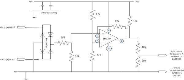 Home Energy Centre using Raspberry Pi and Nook Simple Touch schematic