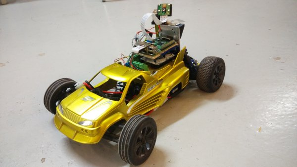 PC racing set controlled RC car with video streaming