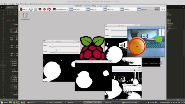 Raspberry Pi Ball tracking schematic