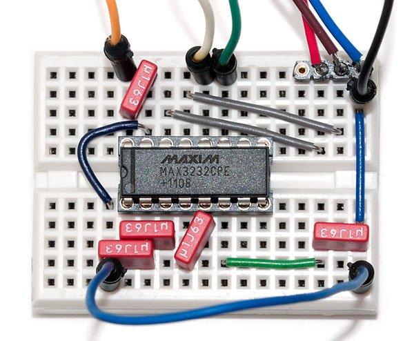 Raspberry Pi Serial Console With MAX3232CPE schematic