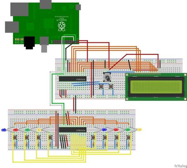 SmartFaire on Raspberry Pi 2 schematic