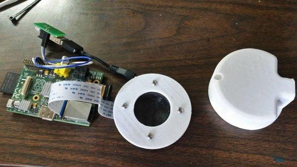 3d Printed Raspberry Pi Security Camera schematic