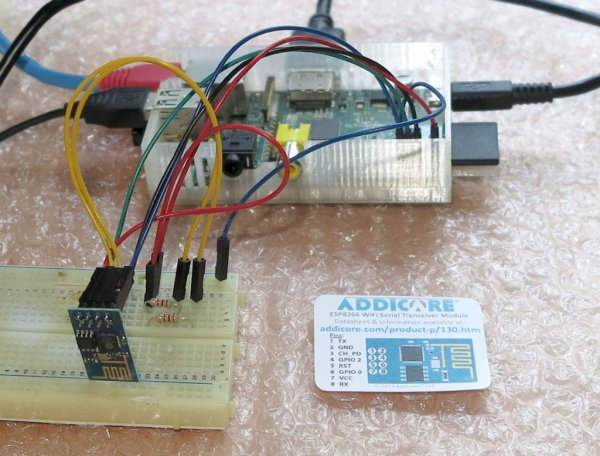 Connect an ESP8266 to your RaspberryPi