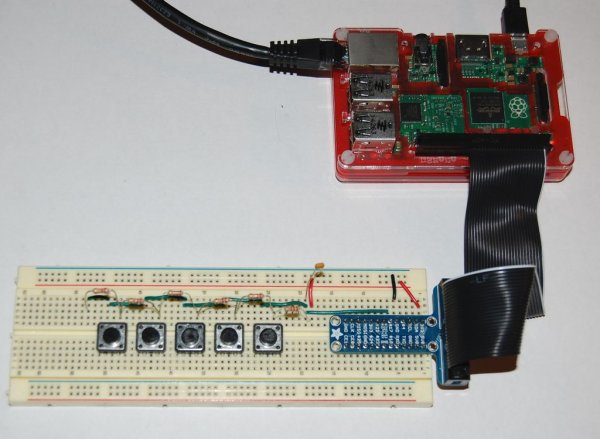 RaspberryPi Multiple Buttons On One Digital Pin
