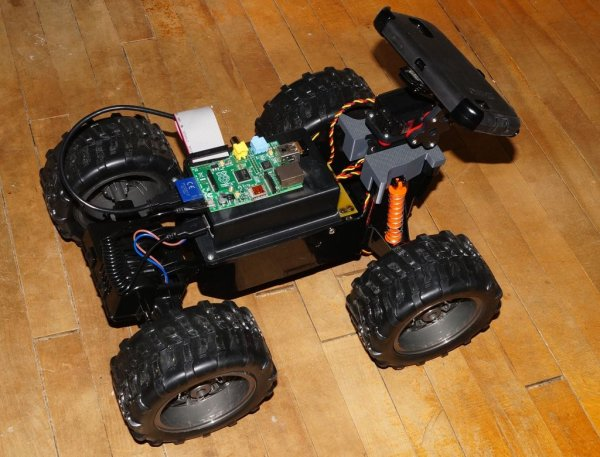 WebRTC Creeper Drone - Browser Controlled RC Car