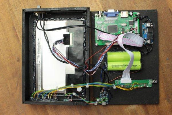 DIY Portable Mini Monitor schematich