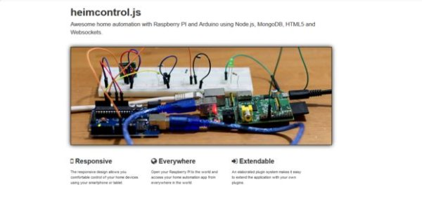 Home automation with node js , raspberry pi and heimcontrol schematich