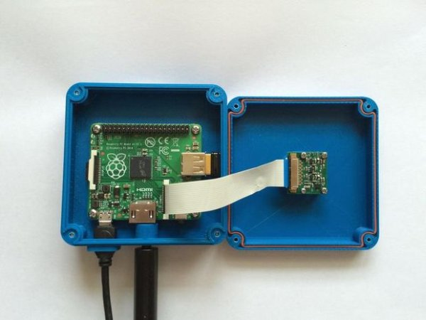 RainBerry Compact Weatherproof Case for Raspberry Pi A and Pi Camera schematich