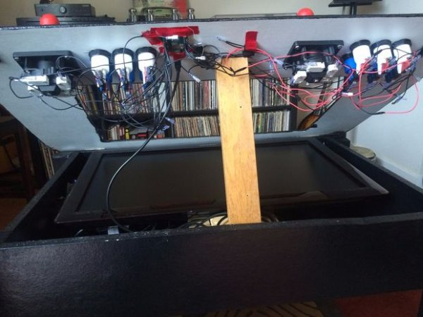 RasPi Two-Player Arcade Coffee Table schematich