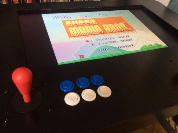RasPi Two-Player Arcade Coffee Table