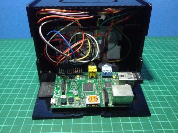 Raspberry Pi IoT ticket printer for online storesschematich
