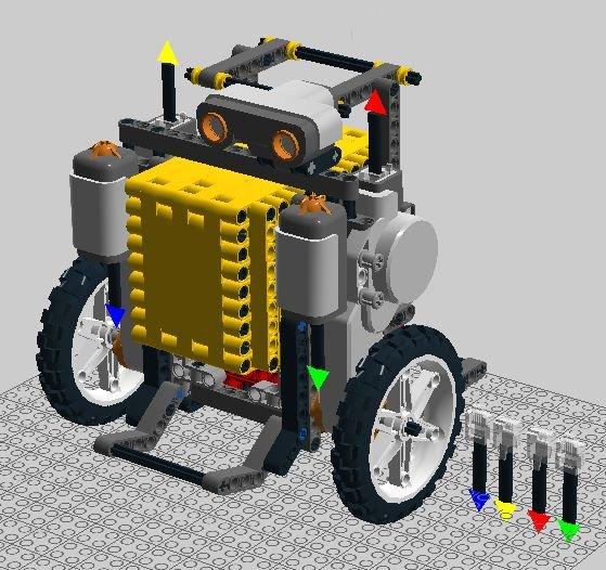 Rolling Alarm Robot schematich