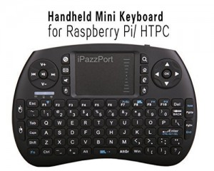 iPazzPort Wireless Mini Handheld Keyboard with Touchpad Combo for Raspberry Pi