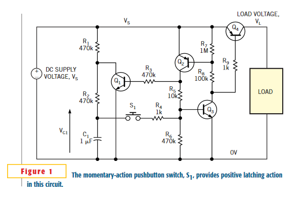 Latching power switch