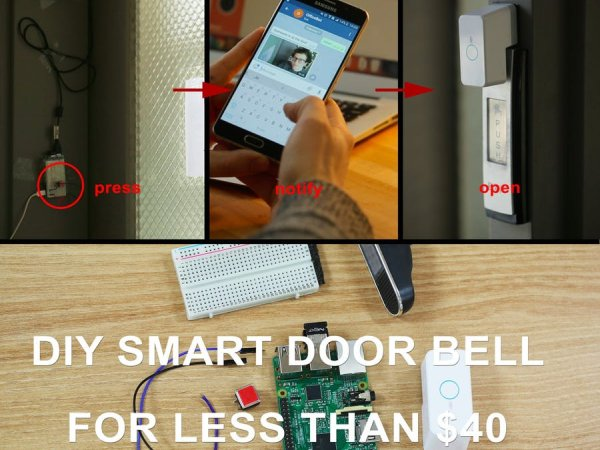 diy smart home doorbell for less than 40. Black Bedroom Furniture Sets. Home Design Ideas