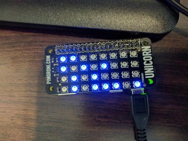 Binary IP address display for Raspberry Pi