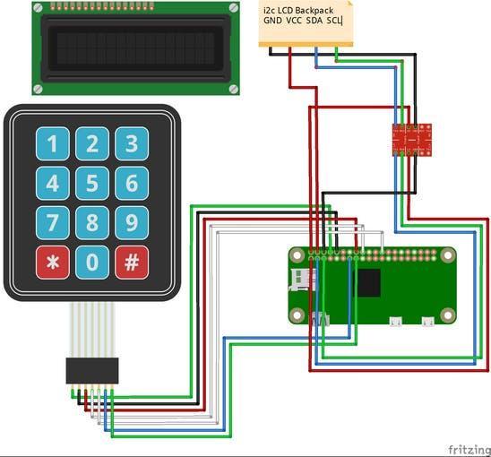 Keypad to Raspberry Pi