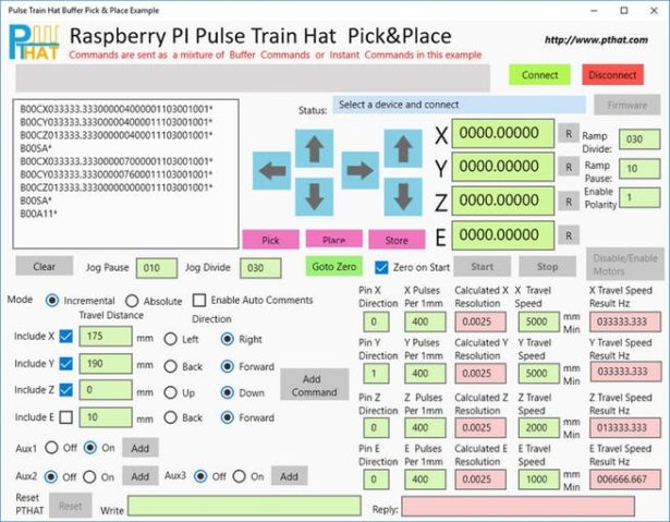 pick and place pulse train hat pick place example