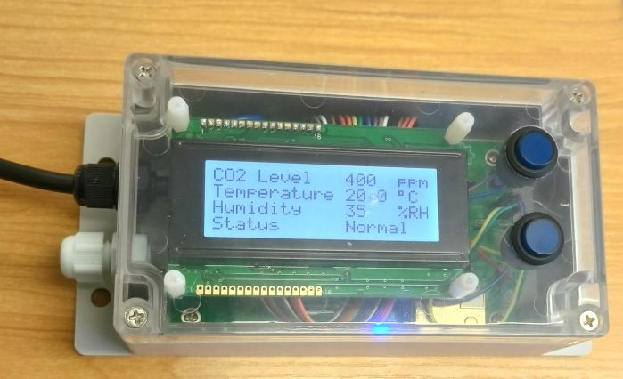 CO2, temperature and humidity monitor