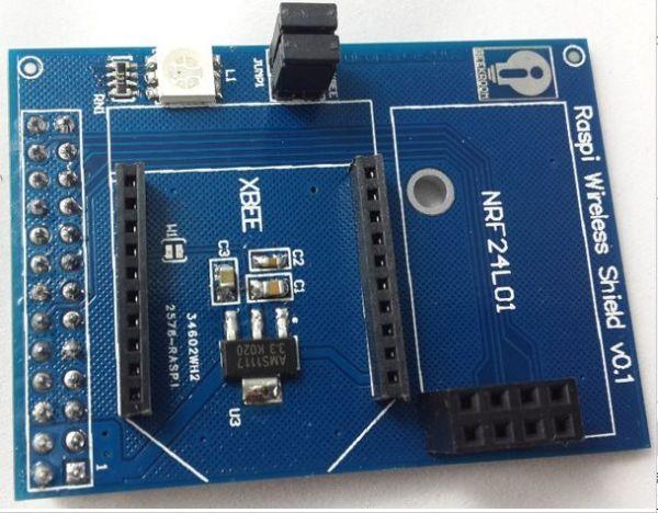 A novel design for raspberry pi wireless shield extension board