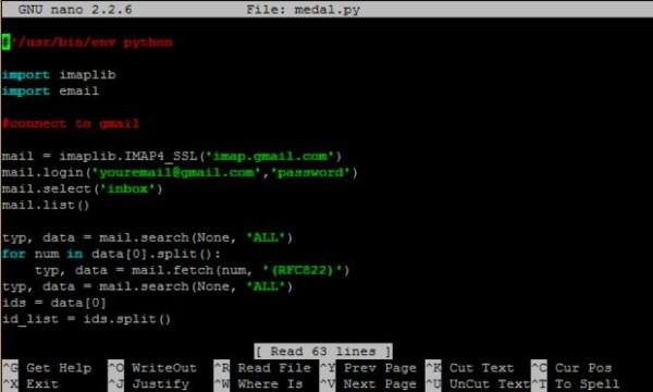Raspberry Pi Medal Light Code