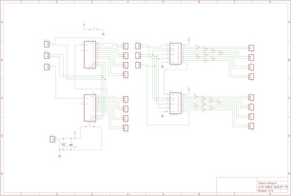 Display and Control Section for AD9835 project schematic