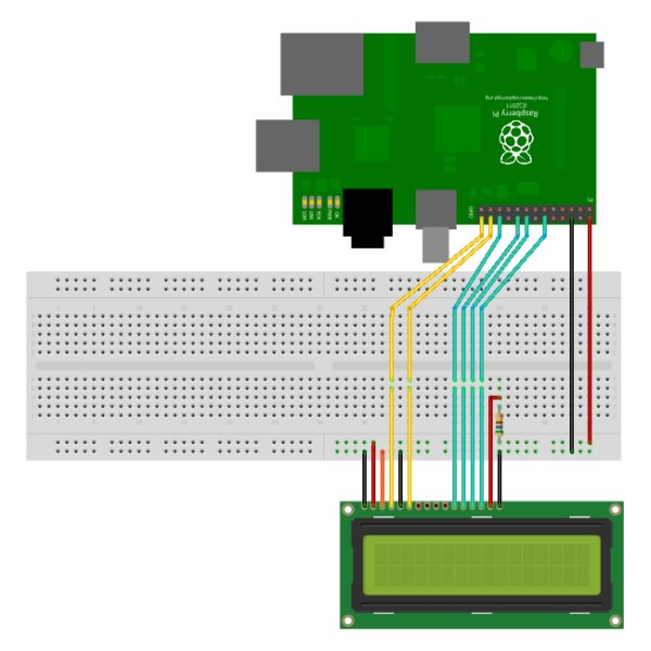 16×2 LCD Module Control Using Python board+schematic